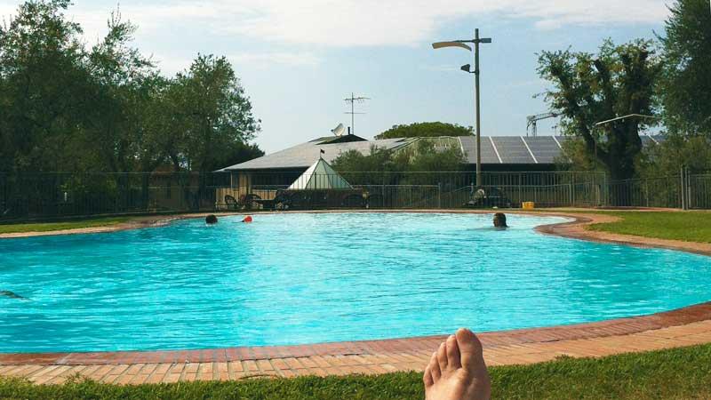 the pool at Zi' Martino