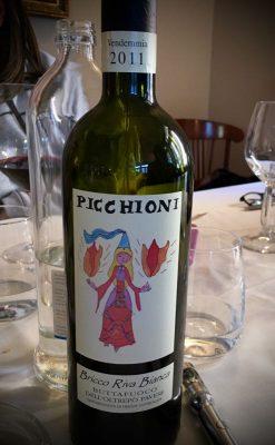 Una bottiglia di ottimo Buttafuoco della cantina Picchioni