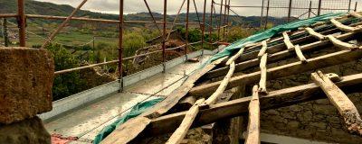l'armatura del vecchio tetto di Oltrella
